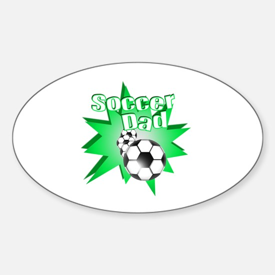 Soccer Dad Green Oval Decal