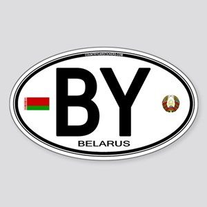 Belarus Euro Oval Oval Sticker