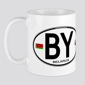 Belarus Euro Oval Mug