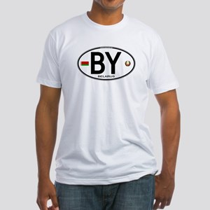 Belarus Euro Oval Fitted T-Shirt