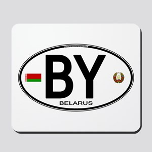 Belarus Euro Oval Mousepad