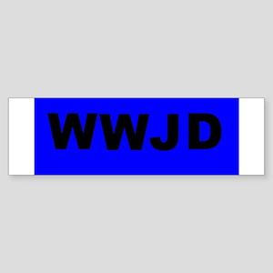 WWJD Bumper Sticker
