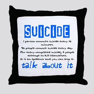 Suicide Statistics Throw Pillow