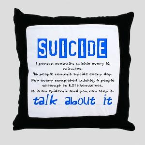 Suicide Statistics Throw Pillow