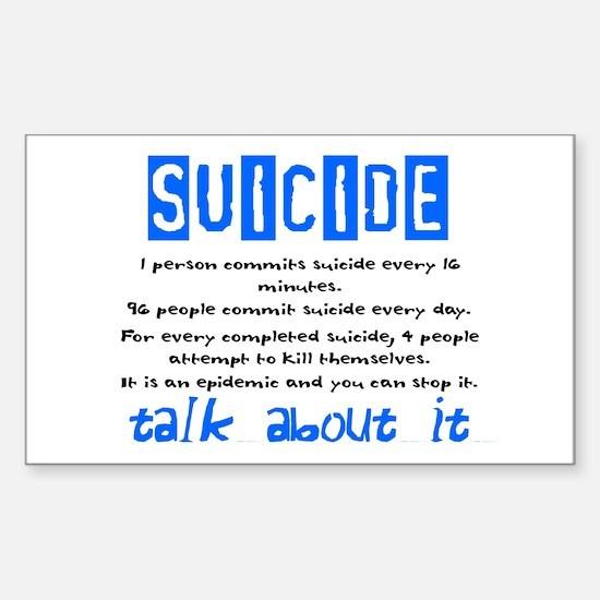 Suicide Statistics Rectangle Decal