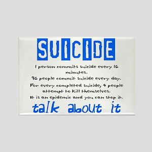 Suicide Statistics Rectangle Magnet