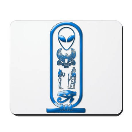 Alien-Egyptian Cartouche 15 Mousepad