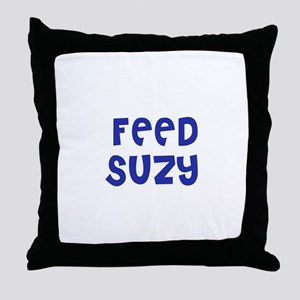 Feed Suzy Throw Pillow