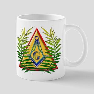 Masonic Acacia & Pyramid Mug
