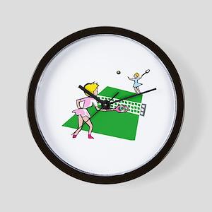 Tennis Match Wall Clock
