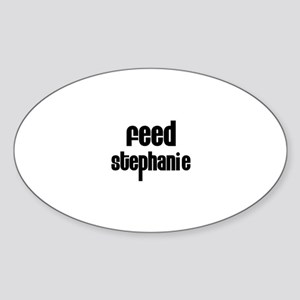 Feed Stephanie Oval Sticker