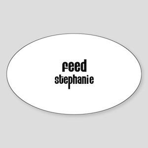 Feed Stephanie Oval Sticker