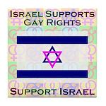 Gay Israel Tile Coaster