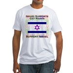 Gay Israel Fitted T-Shirt