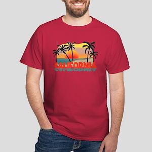 California Beaches Sunset Dark T-Shirt