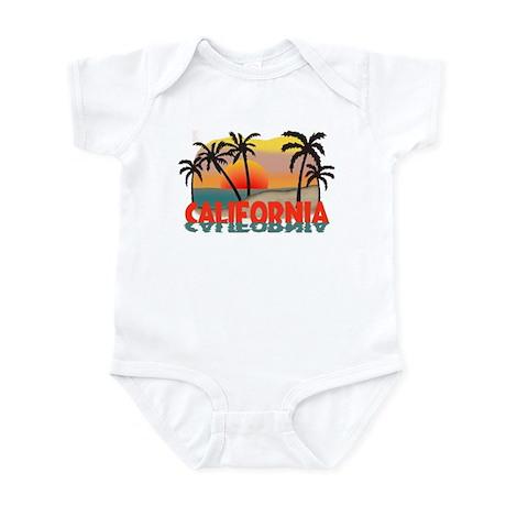 California Beaches Sunset Infant Bodysuit