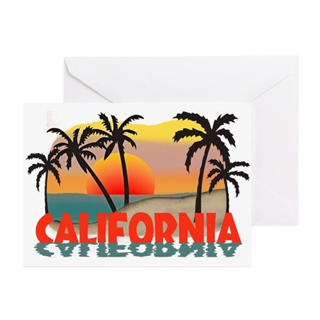 California Beaches Sunset Greeting Cards (Pk of 20