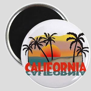 California Beaches Sunset Magnet