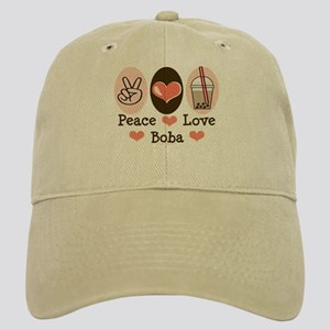 Peace Love Boba Bubble Tea Cap