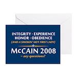 McCain & A Smokin' Hot 1st Lady Greeting Cards (Pk