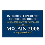 McCain & A Smokin' Hot 1st Lady Postcards (Package