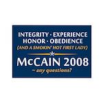 McCain & A Smokin' Hot 1st Lady Rectangle Magnet (
