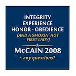 McCain & A Smokin' Hot 1st Lady Tile Coaster