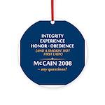 McCain & A Smokin' Hot 1st Lady Ornament (Round)