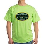 McCain & A Smokin' Hot 1st Lady Green T-Shirt