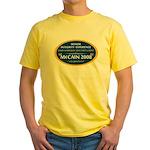 McCain & A Smokin' Hot 1st Lady Yellow T-Shirt