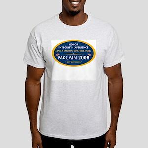 McCain & A Smokin' Hot 1st Lady Light T-Shirt