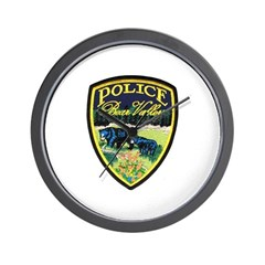 Bear Valley Police Wall Clock
