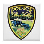 Bear Valley Police Tile Coaster