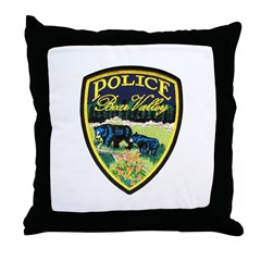 Bear Valley Police Throw Pillow