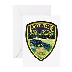 Bear Valley Police Greeting Cards (Pk of 10)
