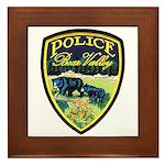 Bear Valley Police Framed Tile