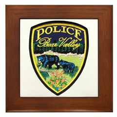 Bear Valley Police Framed Tile