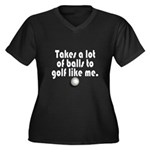 Golf Balls Plus Size T-Shirt