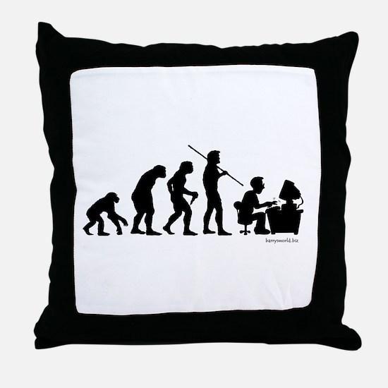 Computer Evolution Throw Pillow