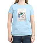 Bold and Beautiful Alien Half Face Design Blue Red