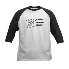 BUSY RIGHT NOW Kids Baseball Jersey