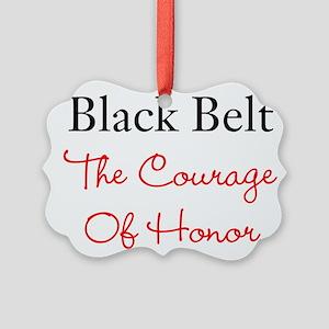 Martial Arts Karate Black Belt Picture Ornament