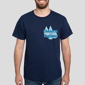 Blue Chemical Engineer Dark T-Shirt