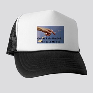 God Is Left-Handed Trucker Hat