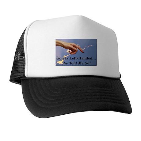 God Is Left-Handed Trucker Hat