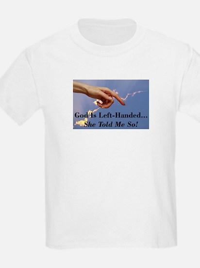 God Is Left-Handed Kids T-Shirt