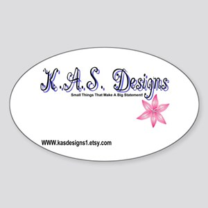 K.A.S Designs Oval Sticker