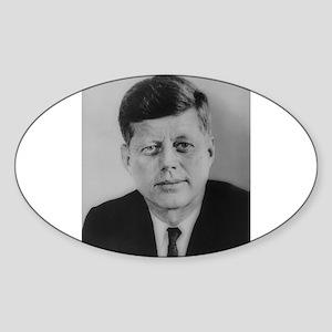 John F. Kennedy Oval Sticker