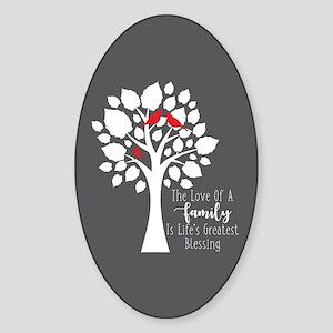 Family One Bird Sticker (Oval)
