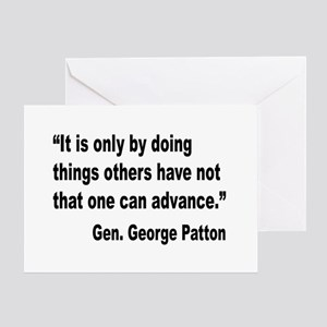Patton Doing Things Quote Greeting Card